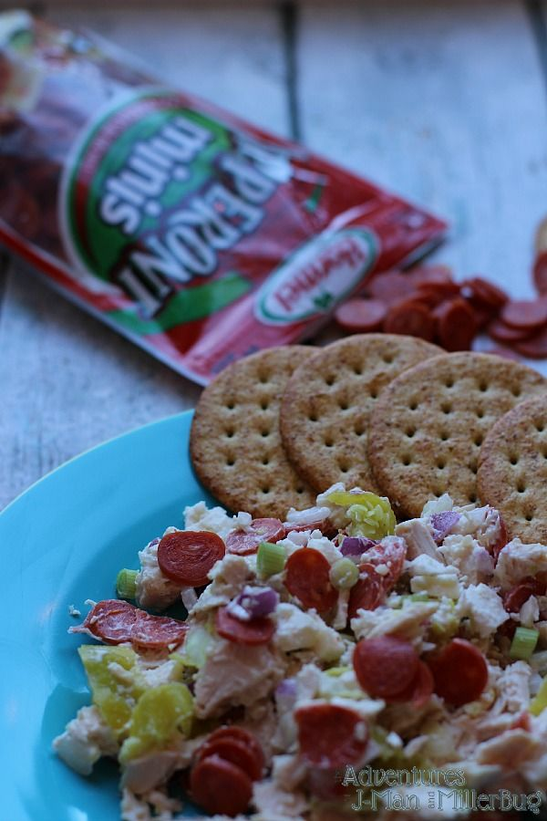 #PepItUp #ad Italian Chicken Salad Recipe with Pepperoni