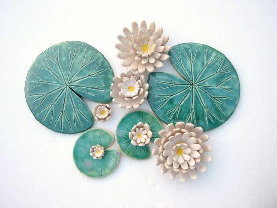 Set di sottobicchieri Lily pad e ceramica di di damsontreepottery