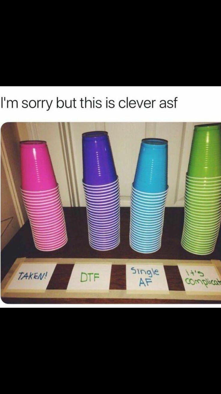 Farbcodierte Trinkbecher für Partys … wer ist S…