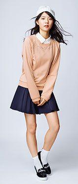 【ニッセン】春コーデのコーデ:ティーンズファッションのコーディネート 通販 ティーンズニッセン 女子高生・中学生向けの服・バッグ・小物