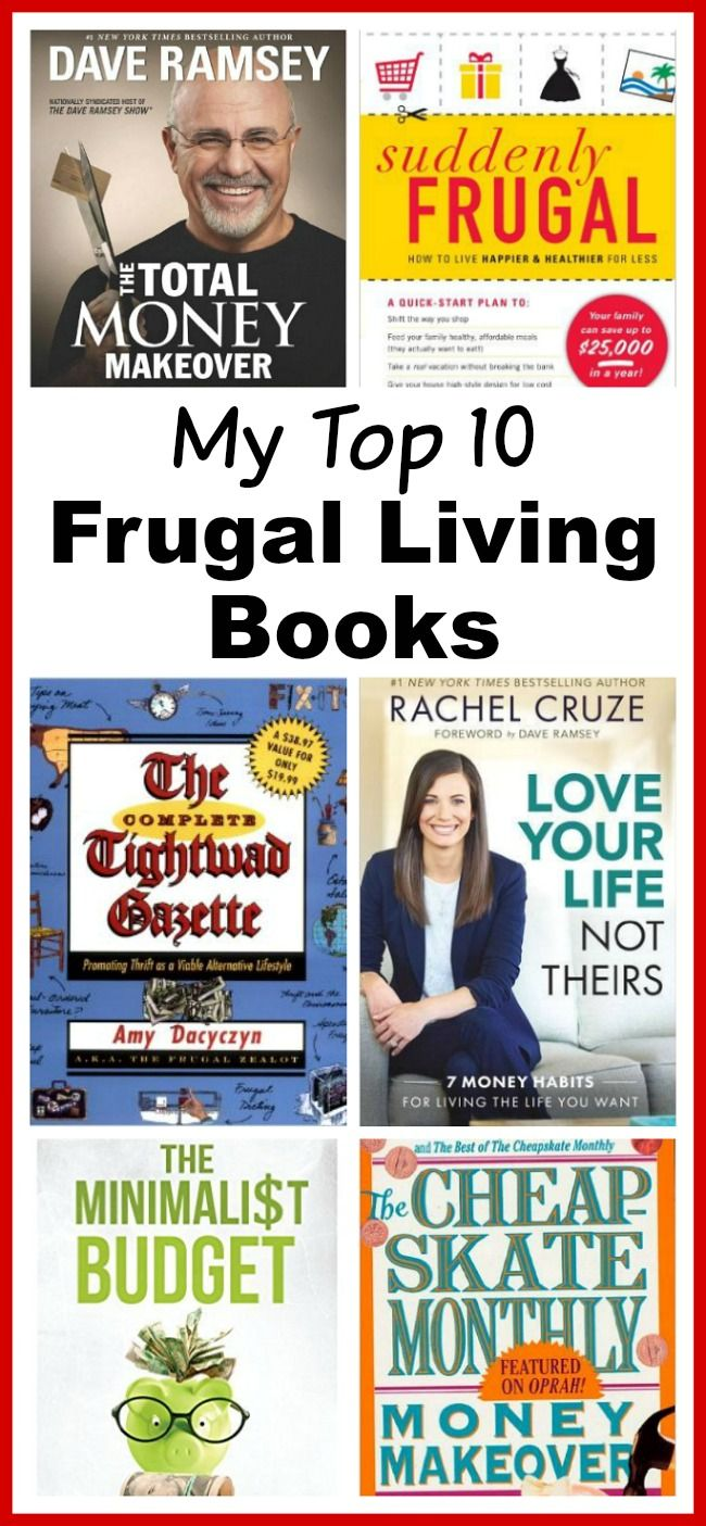 Top 10 Frugal Living Books You Need To Read! - Want to change your finances? These 10 frugal living books will help you get control of your money! These make great gifts for college students, teenagers, and anyone wanting to improve their finances! Financial planning books. Frugal living  money saving ideas  budgeting  living on a budget