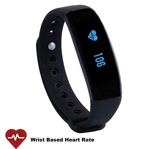CUBOT V2 Wireless Activity Wristband, Heart Fitness Tracker with a Heart Rate Monitor, Pedometer, Step Counter, Distance Counter, Sleep Monitor for Android and iOS, Black -- Details can be found by clicking on the image.