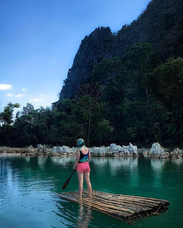 Blue Lagoon 2 Vang Vieng Laos If You Go To Vang Vieng You Will Hear About Blue Lagoon There Are Several Of Them Travel Stories Beautiful Destinations Laos