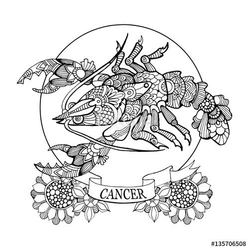 cancer coloring pages - 391 best images about adult colouring zodiac signs on