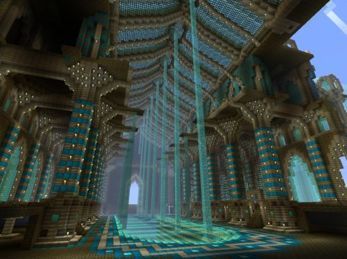 Incredible Minecraft cathedral interior. KEVIN! PAIGE! THIS NEEDS TO HAPPEN!!!