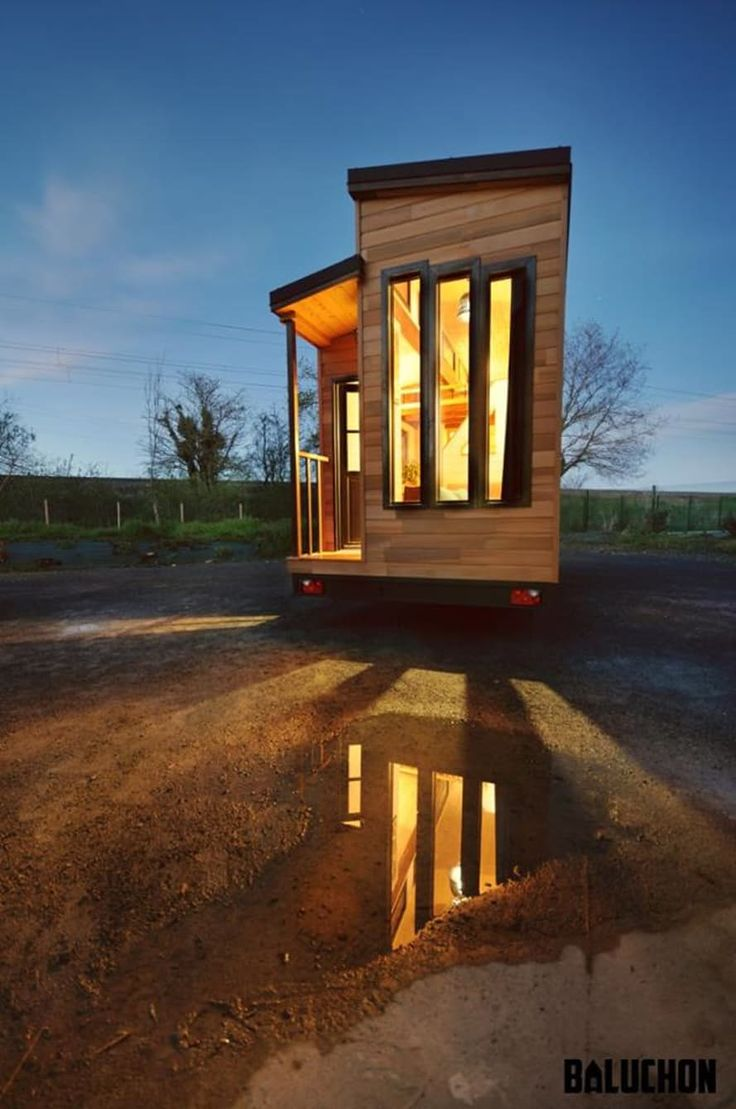 Captivating Lightweight Tiny House Provides A Towable Home For Two. BauwagenWohnkultur IdeenKleine  HäuserTraumhäuserHouse ...