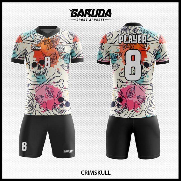 Download Desain Baju Futsal Crimskull Warna Putih Hitam Motif Tengkorak Di 2021 Putih Hitam Warna Desain