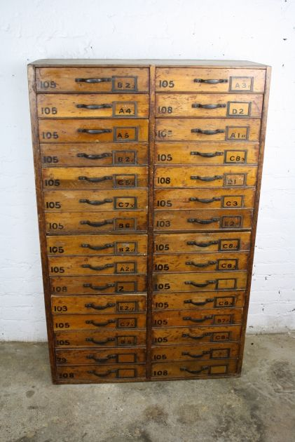 vintage haberdashery solid drawer chest antique furniture apothecary general