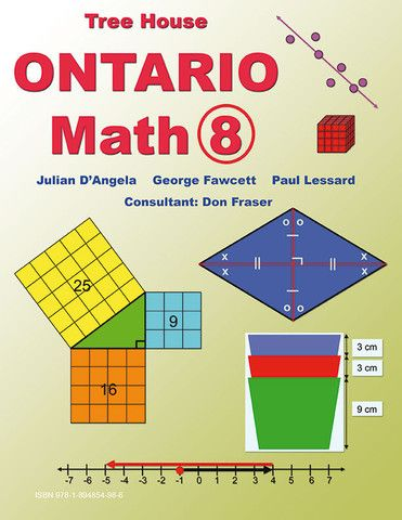 Ontario Math 8 - clear, readable lessons that teach every Ontario grade 8 math strand.