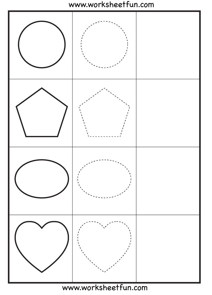 shapes coloring pages for kindergarten - free shape tracing worksheets for preschoolers 2014 free
