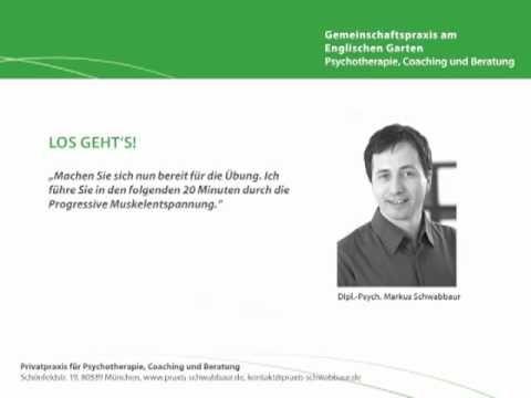 Progressive Muskelentspannung - Übungsanleitung (von Dipl.-Psych. Markus Schwabbaur) - YouTube