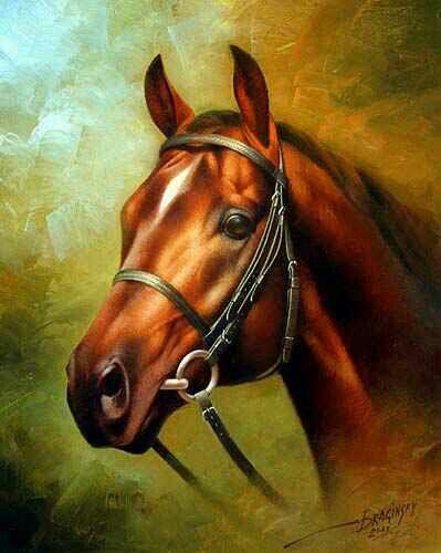 "Arthur Braginsky ""Head of a red horse"""