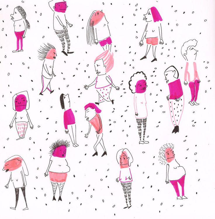People. Maria Velat sketchbook.