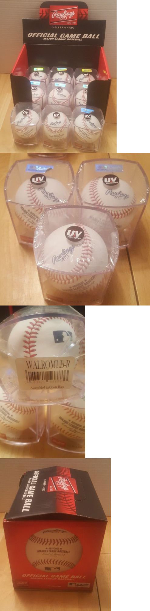 Baseballs 73893: Lot Of Rawlings Official Major League Mlb Baseball Uv Display Cube Waromlb-R -> BUY IT NOW ONLY: $88 on eBay!