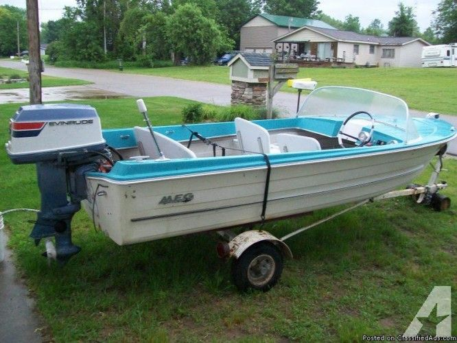 13ft 1960 S Mfg Classic Runabout Boat W Trailer Life On