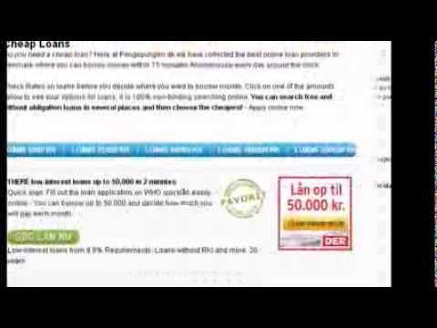 Lån Penge Online -  Har du brug et  Billige lån ? Her på Pengepungen.dk har vi samlet de bedste online lån udbydere i Danmark hvor du kan låne penge indenfor 15 minutter helt anonymt alle dage døgnet rundt. Du kan gratis og uforpligtende søge lån flere steder og derefter vælge det billigste – Ansøg online nu. http://www.pengepungen.dk/laan-penge/