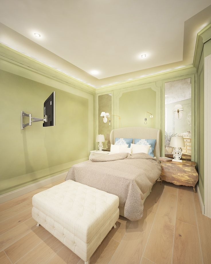 Квартира в стиле шебби-шик. Спальня
