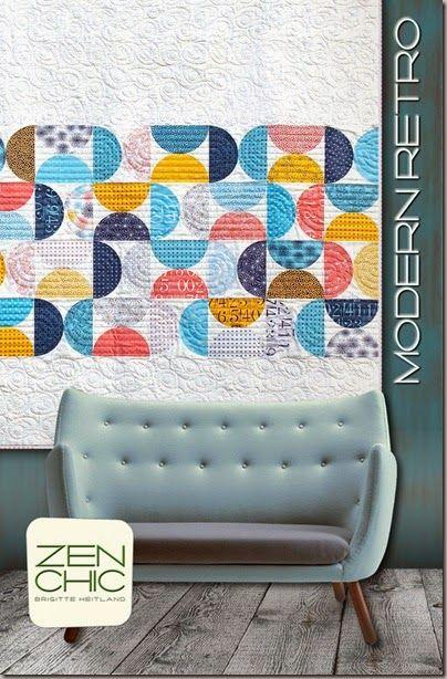 Modern Retro quilt pattern ZEN CHIC, www.brigitteheitland.de