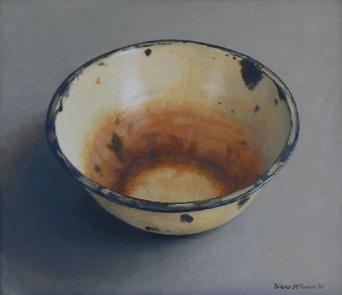 Diane McLean Rusted bowl (2010), oil on board.