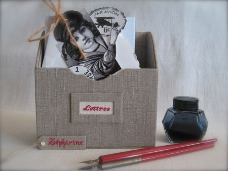 Easy DIY box for envelopes (can use a cereal box)