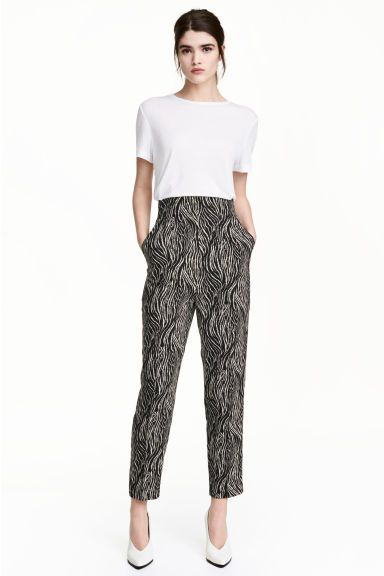 Wide trousers - Zebra print - Ladies | H&M CA