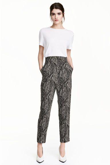 Pantaloni largi - Imprimeu zebră - FEMEI | H&M RO 1