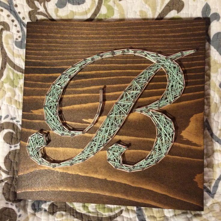 Custom Letter Initial String Art Name Wall Decor Nursery
