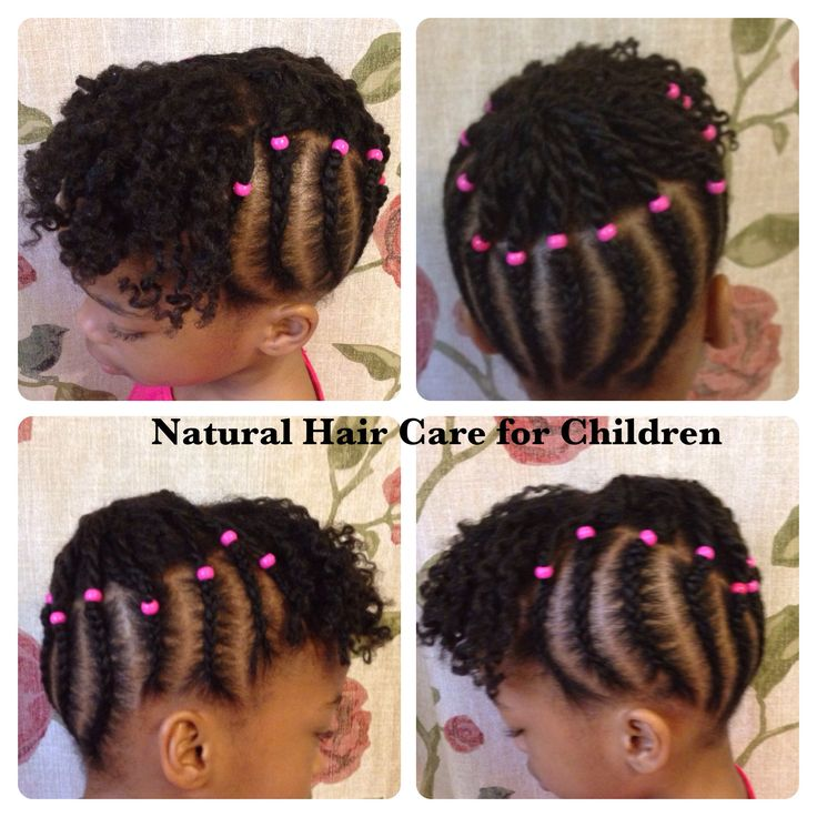 Children's Natural Hair, braids, twists and beads