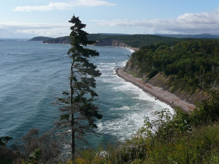 Ingonish Cove, along the Cabot Trail. We hiked along a trail that warned us about all sorts of dangerous wildlife. The trail here is fantastic and worth hiking all the way out to the point.