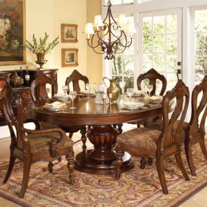 Prenzo Pedestal Dining Table By Homelegance, 1390-76