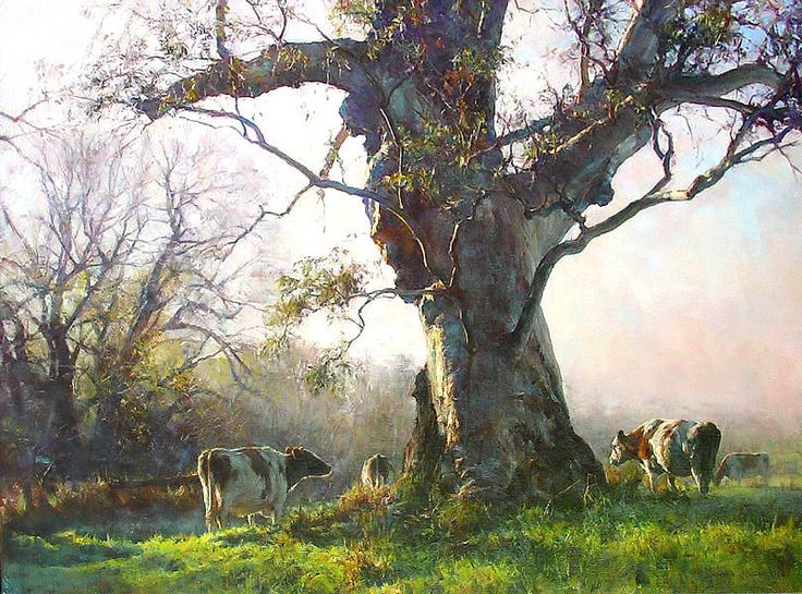 """Winter Morning Kangarilla"" by John McCartin, Oil on Linen 110cm x 82cm"