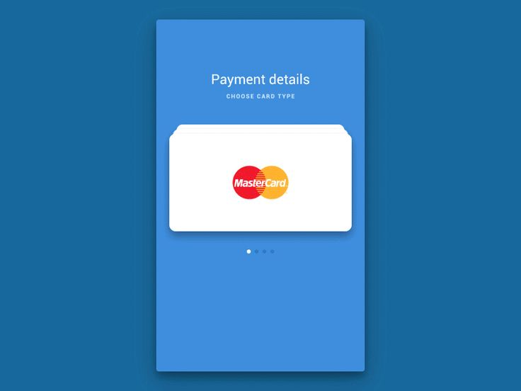 Dribbble - Day 4 - Credit Card Payment Rebound by Artem Borodynya