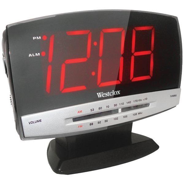 WESTCLOX 80187 1.8'' Digital AM/FM Dual Alarm Clock Radio