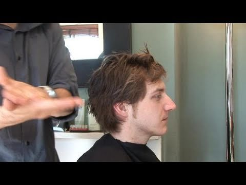 Messy Bed hair for men - hair video tutorial on how to style medium long mens hair - Morning hair - YouTube