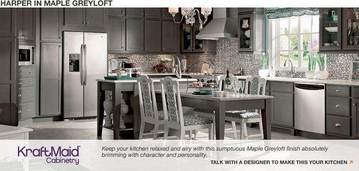 Best Kraftmaid Greyloft Google Search Kitchen Pinterest 400 x 300