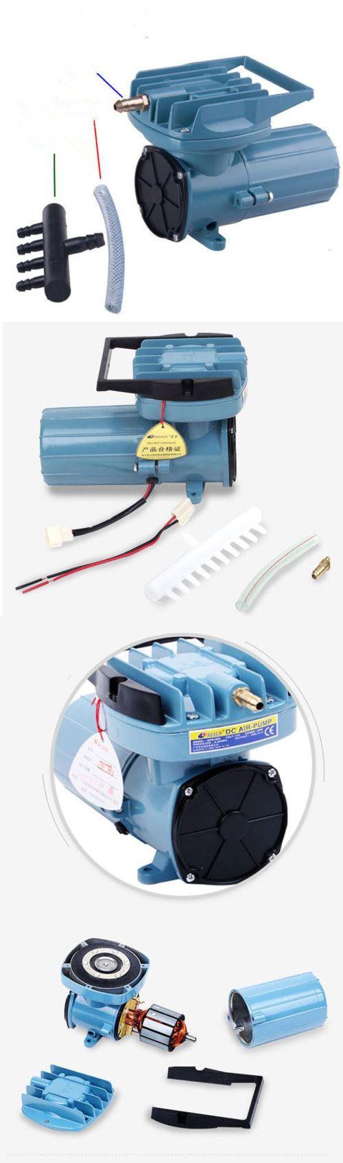 Pumps air 100351 us warehous120w compressor air pump hydroponics aquarium inflated aerator dc12v