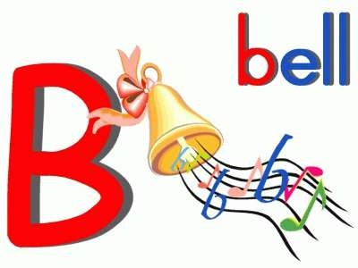 Letter B Bell online puzzle with links to printable activities.