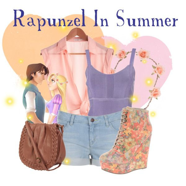 """""""Rapunzel In Summer"""" by agust20 on Polyvore- Want everything but the shoes"""