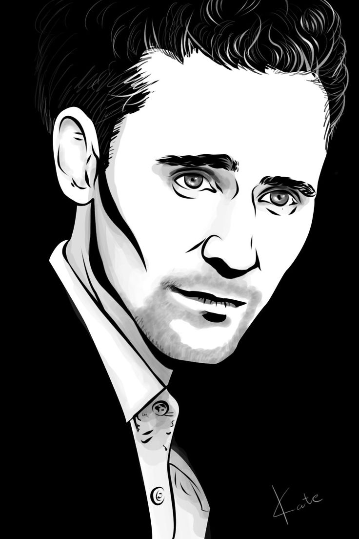 Том Хиддлстон / Tom Hiddleston By Katerina Podolskaya drawing, art,  portrait, man рисунок, арт, портрет, мужчина