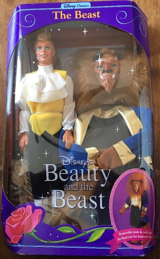 Disney's Beauty and the Beast; The Beast Doll • Removable mask and outfit for Prince and The Beast (2 outfits) • Hair brush and mirror accessories in sealed bag inside of box • #2346 • Mattel 1991 | eBay!