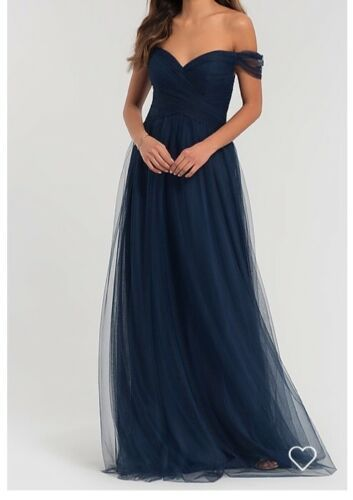 purchase cheap great look new authentic bridesmaid dress long navy | eBay in 2019 | Long bridesmaid ...