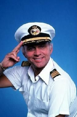 Gavin MacLeod as Captain Stubing on the Love Boat.