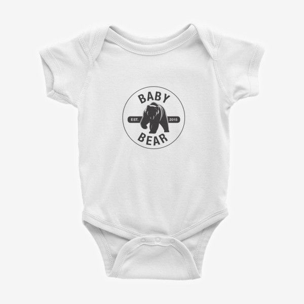 Baby Bear Printed Baby Bodysuit