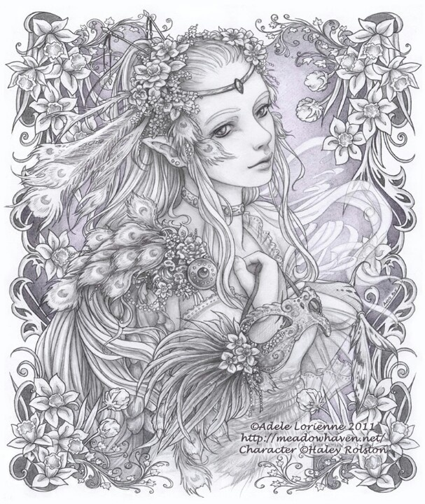 266 best fantasy lady coloring pages images on Pinterest