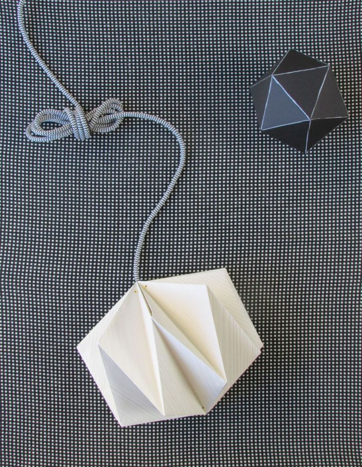 Origami Lampshade Made From Wallpaper                                                                                                                                                                                 More