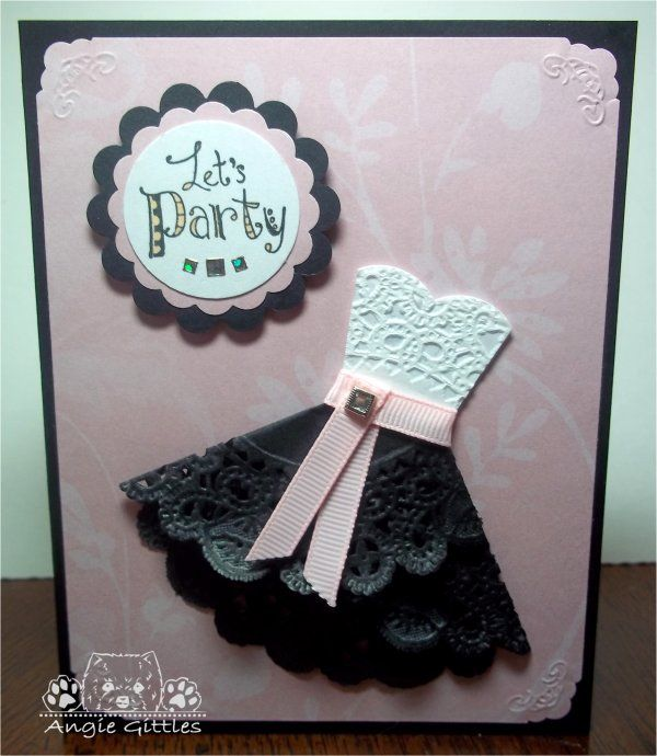 doily dress card | ... getting any doily cards from me this round. That would be a give-away