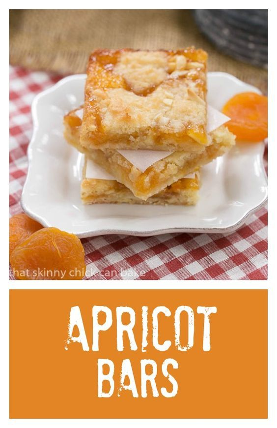 Apricot Bars | Scrumptious layered bars with coconut, almonds and apricot preserves @lizzydo