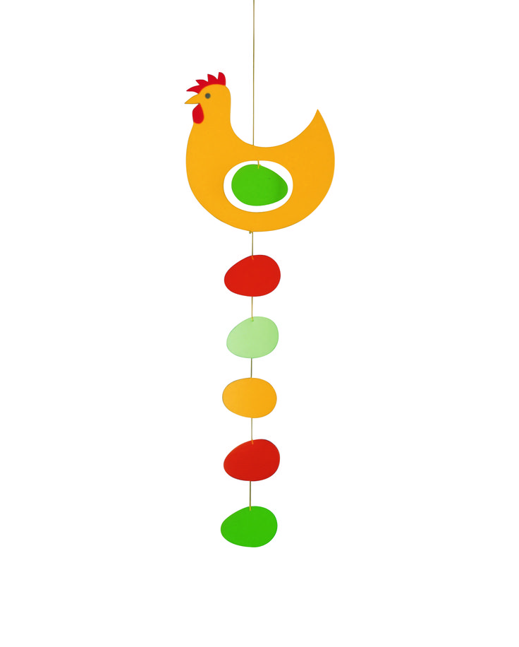 Prize Hen (yellow) by Flensted Mobiles
