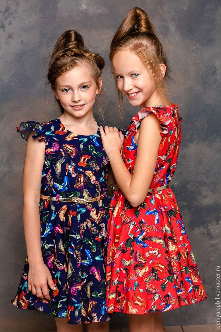 """Купить Красное платье для девочки """"Маленькая мисс"""" (арт. 90) - платья для девочек"""