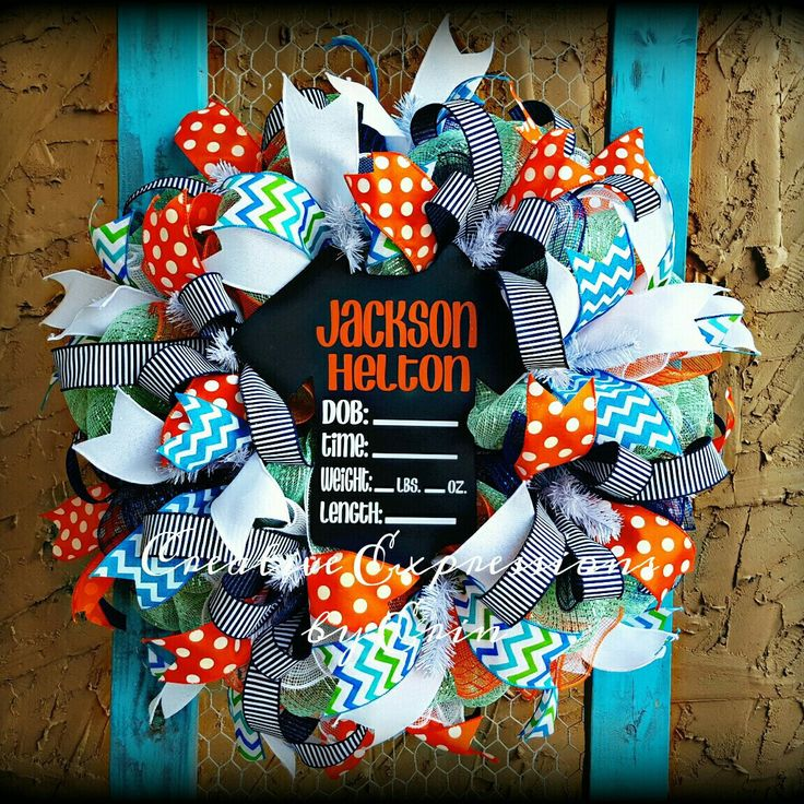 New baby wreath design just added! Finding Nemo inspired!